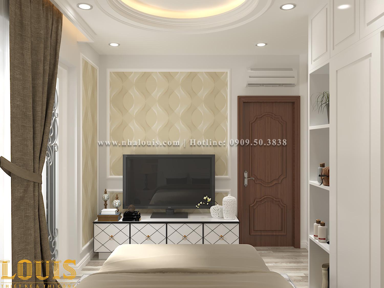 Phòng ngủ Mẫu nhà ống tân cổ điển 4 tầng tại Gò Vấp đẹp sang chảnh - 40
