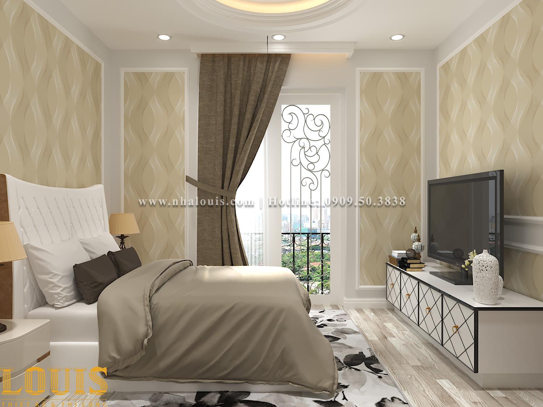Phòng ngủ Mẫu nhà ống tân cổ điển 4 tầng tại Gò Vấp đẹp sang chảnh - 41