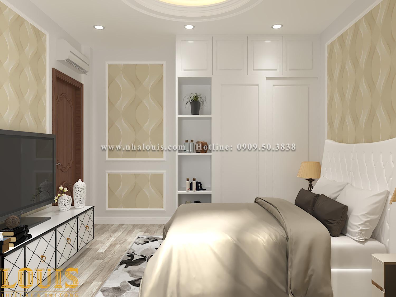 Phòng ngủ Mẫu nhà ống tân cổ điển 4 tầng tại Gò Vấp đẹp sang chảnh - 42
