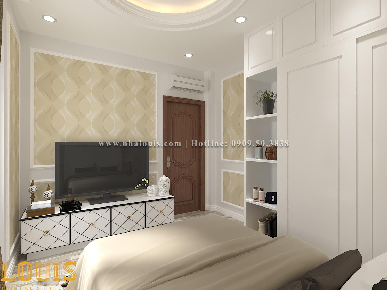 Phòng ngủ Mẫu nhà ống tân cổ điển 4 tầng tại Gò Vấp đẹp sang chảnh - 43