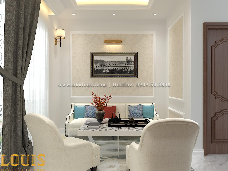 Phòng sinh hoạt chung Mẫu nhà ống tân cổ điển 4 tầng tại Gò Vấp đẹp sang chảnh - 46