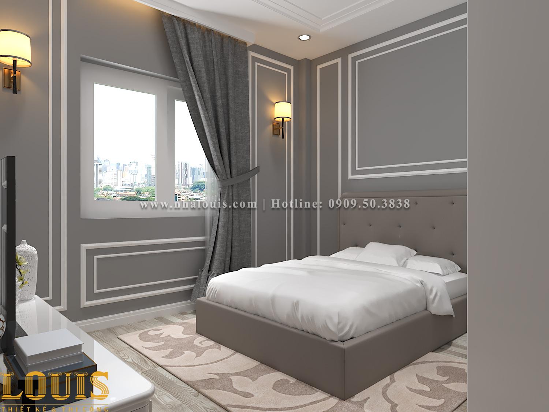 Phòng ngủ Mẫu nhà ống tân cổ điển 4 tầng tại Gò Vấp đẹp sang chảnh - 50