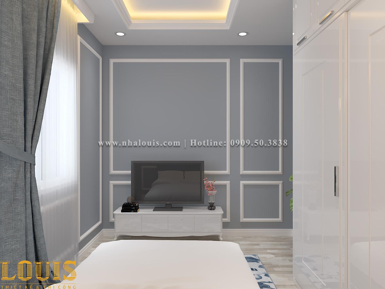 Phòng ngủ Mẫu nhà ống tân cổ điển 4 tầng tại Gò Vấp đẹp sang chảnh - 54