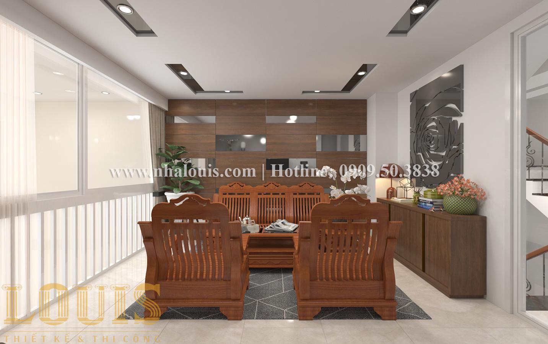Phòng khách Mẫu nhà ống tân cổ điển 4 tầng tại Quận 6 đẹp sang chảnh - 06