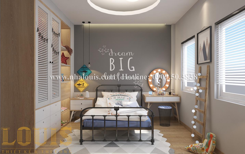 Phòng ngủ Mẫu nhà ống tân cổ điển 4 tầng tại Quận 6 đẹp sang chảnh - 16