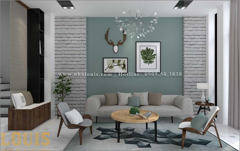 Phòng khách Mẫu nhà ống 3 tầng đẹp tại Long An thiết kế theo xu hướng mới - 05
