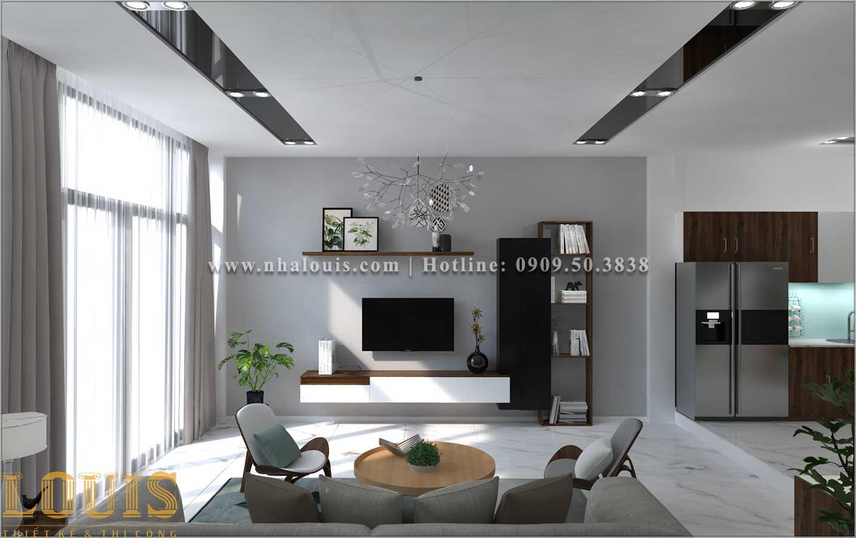 Phòng khách Mẫu nhà ống 3 tầng đẹp tại Long An thiết kế theo xu hướng mới - 06