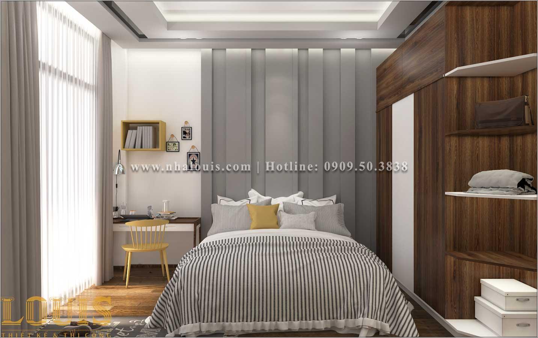 Phòng ngủ Mẫu nhà ống 3 tầng đẹp tại Long An thiết kế theo xu hướng mới - 09