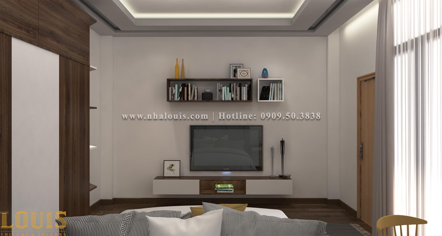 Phòng ngủ Mẫu nhà ống 3 tầng đẹp tại Long An thiết kế theo xu hướng mới - 10