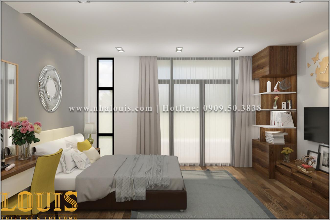 Phòng ngủ Mẫu nhà ống 3 tầng đẹp tại Long An thiết kế theo xu hướng mới - 12