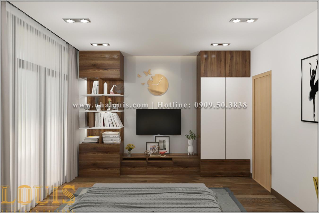 Phòng ngủ Mẫu nhà ống 3 tầng đẹp tại Long An thiết kế theo xu hướng mới - 13