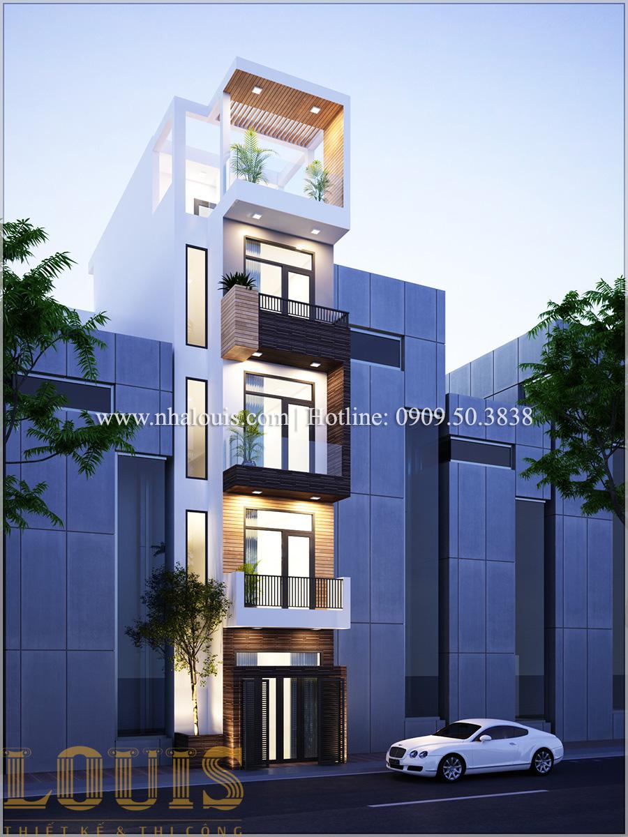 Mặt tiền Mẫu thiết kế nhà phố 5 tầng tại Tân Bình với không gian thiên nhiên xanh mát - 01