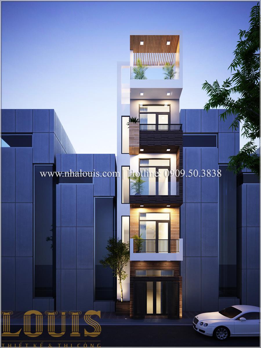 Mặt tiền Mẫu thiết kế nhà phố 5 tầng tại Tân Bình với không gian thiên nhiên xanh mát - 02