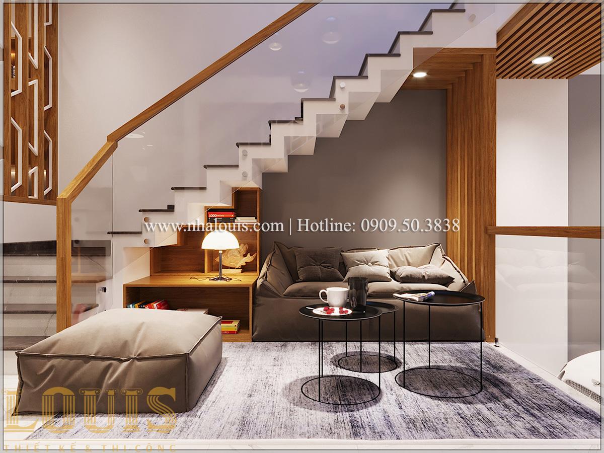 Phòng khách Mẫu thiết kế nhà phố 5 tầng tại Tân Bình với không gian thiên nhiên xanh mát - 06