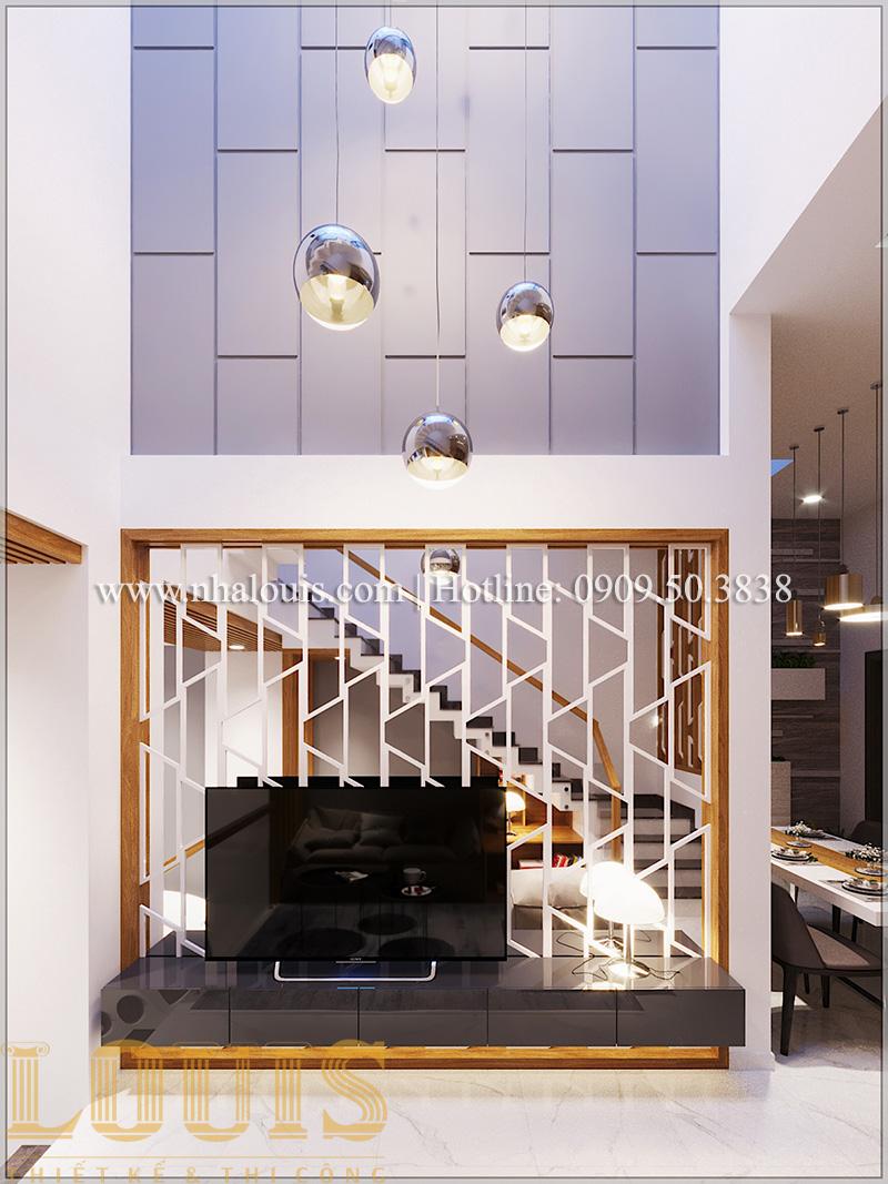 Phòng khách Mẫu thiết kế nhà phố 5 tầng tại Tân Bình với không gian thiên nhiên xanh mát - 07