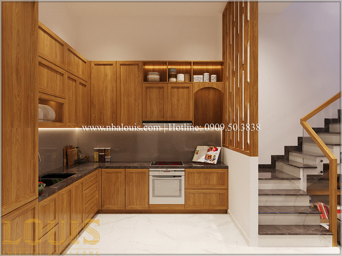 Bếp và phòng ăn Mẫu thiết kế nhà phố 5 tầng tại Tân Bình với không gian thiên nhiên xanh mát - 08