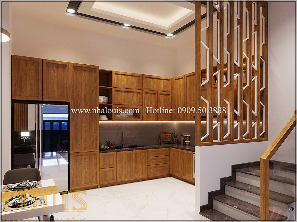 Bếp và phòng ăn Mẫu thiết kế nhà phố 5 tầng tại Tân Bình với không gian thiên nhiên xanh mát - 09