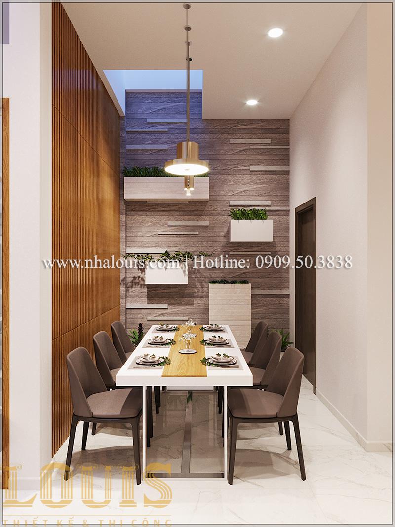 Bếp và phòng ăn Mẫu thiết kế nhà phố 5 tầng tại Tân Bình với không gian thiên nhiên xanh mát - 10