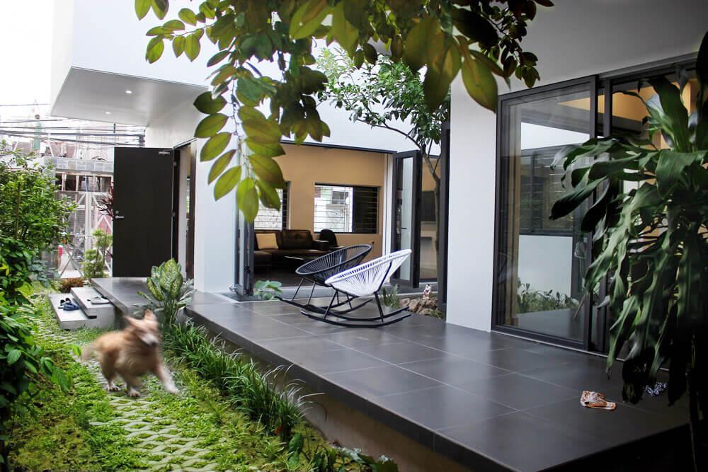 Nhà phố vườn siêu đẹp siêu mát tại sao không - Thiết kế nhà phố đẹp