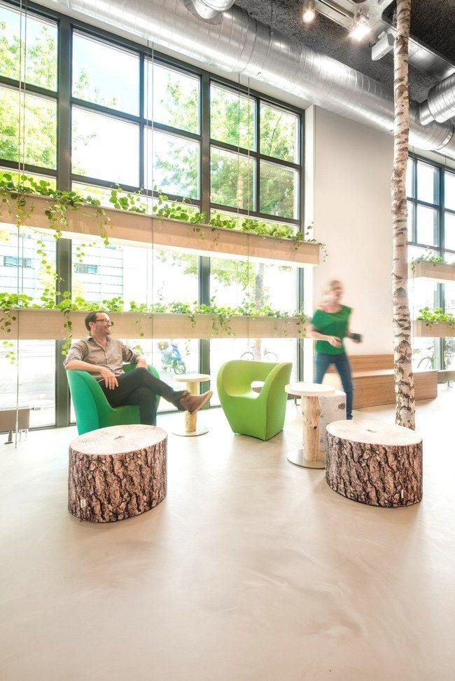 Tham khảo cách trang trí nội thất phòng khách như văn phòng ở Hà Lan