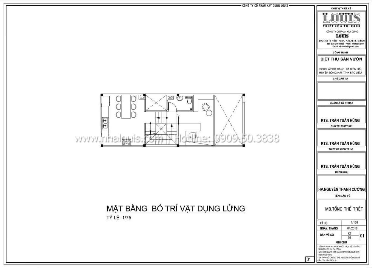 Mặt bằng tầng lửng Mẫu nhà đơn giản nhưng không kém phần ấn tượng tại Tân Bình - 11