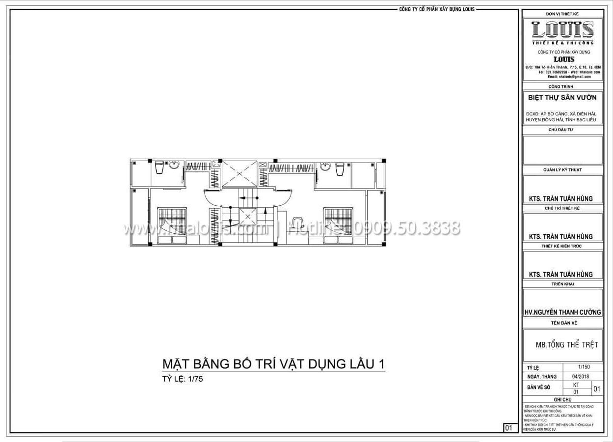 Mặt bằng tầng 1 Mẫu nhà đơn giản nhưng không kém phần ấn tượng tại Tân Bình - 12