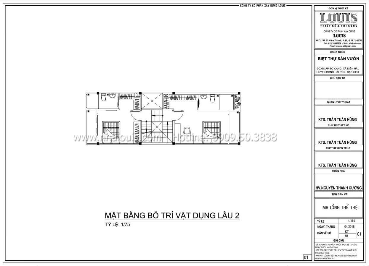 Mặt bằng tầng 2 Mẫu nhà đơn giản nhưng không kém phần ấn tượng tại Tân Bình - 13