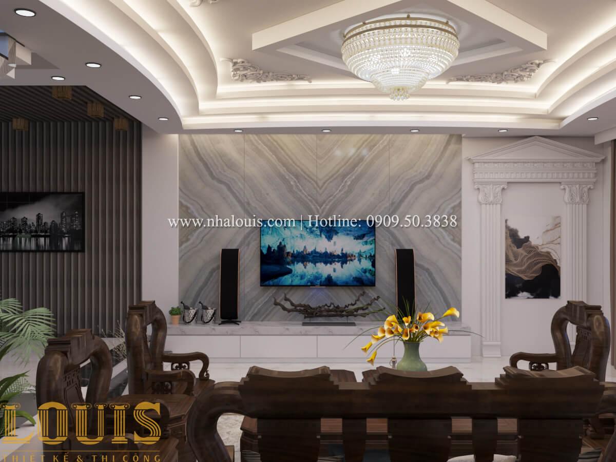 Phòng khách Mẫu nhà phố bán cổ điển với mái Thái độc đáo tại Tân Bình - 06