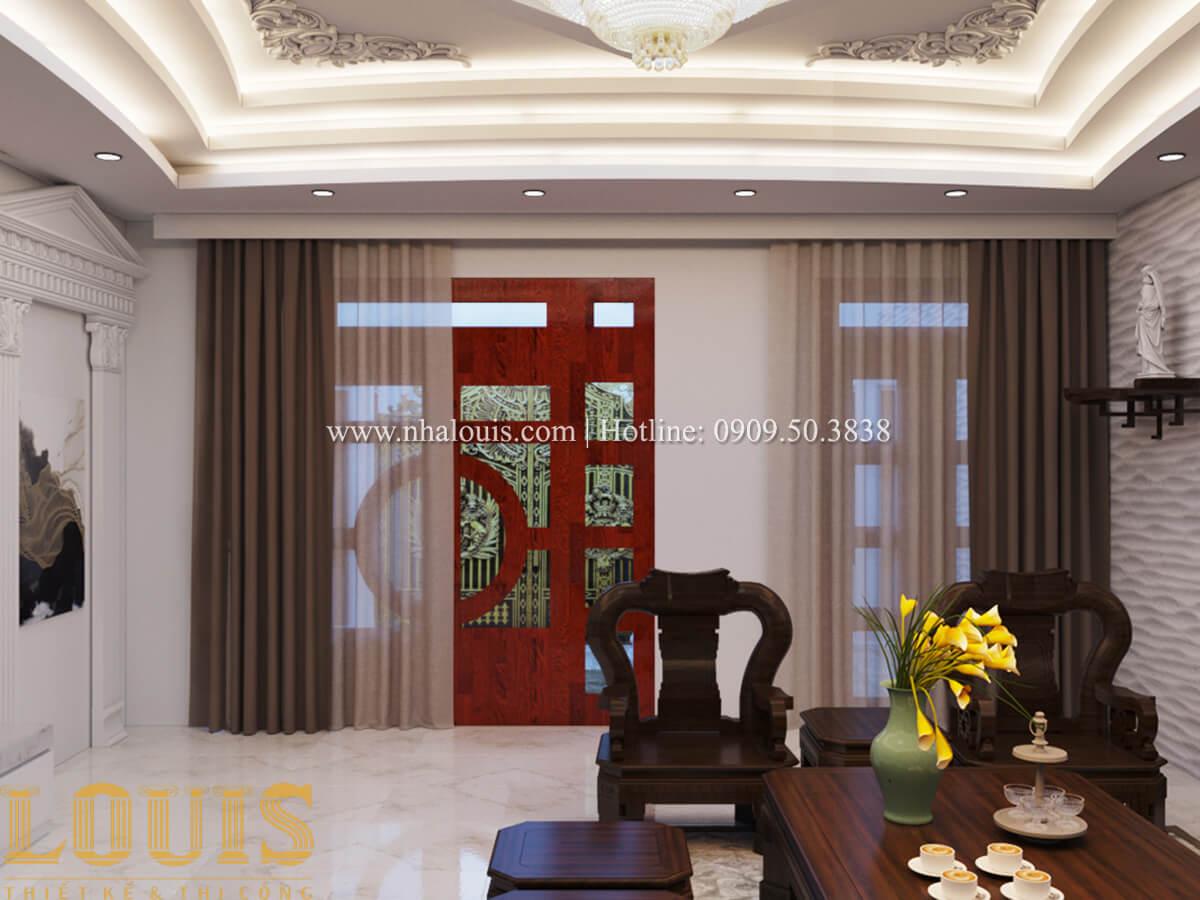 Phòng khách Mẫu nhà phố bán cổ điển với mái Thái độc đáo tại Tân Bình - 08