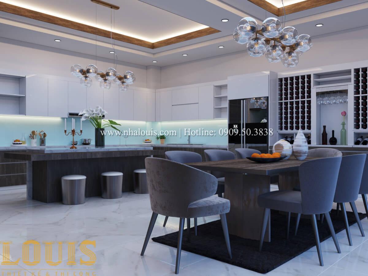 Bếp và phòng ăn Mẫu nhà phố bán cổ điển với mái Thái độc đáo tại Tân Bình - 11