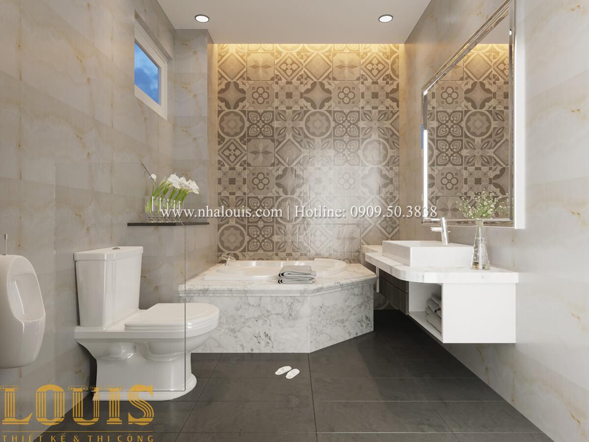 Phòng tắm và WC Mẫu nhà phố bán cổ điển với mái Thái độc đáo tại Tân Bình - 18