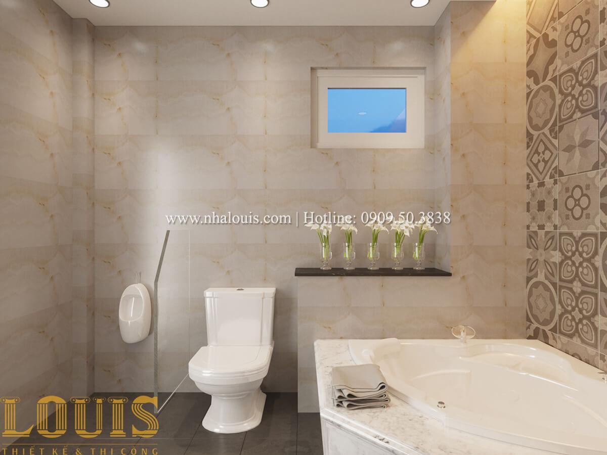 Phòng tắm và WC Mẫu nhà phố bán cổ điển với mái Thái độc đáo tại Tân Bình - 19