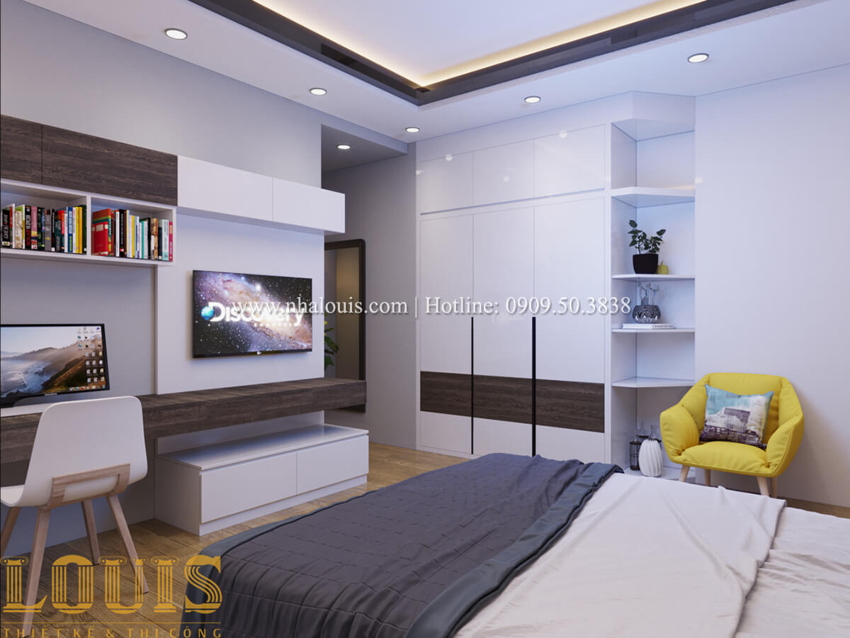 Phòng ngủ Mẫu nhà phố bán cổ điển với mái Thái độc đáo tại Tân Bình - 23