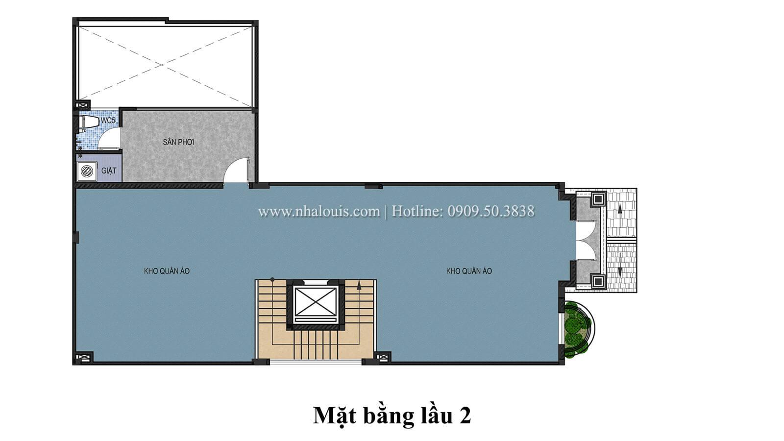 Mặt bằng tầng 2 Mẫu nhà phố bán cổ điển với mái Thái độc đáo tại Tân Bình - 28