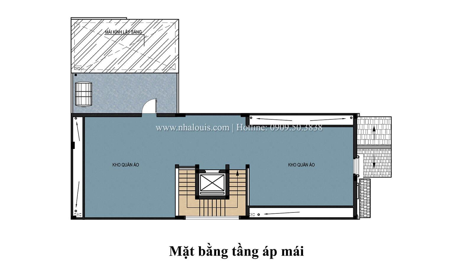 Mặt bằng tầng áp mái Mẫu nhà phố bán cổ điển với mái Thái độc đáo tại Tân Bình - 29
