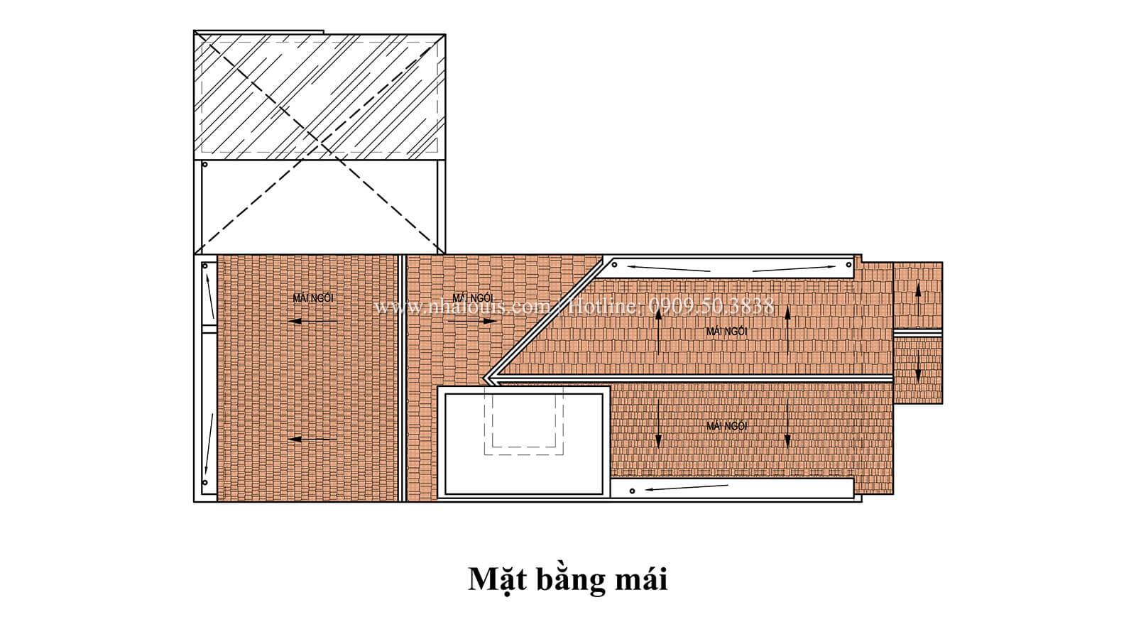Mặt bằng tầng mái Mẫu nhà phố bán cổ điển với mái Thái độc đáo tại Tân Bình - 30