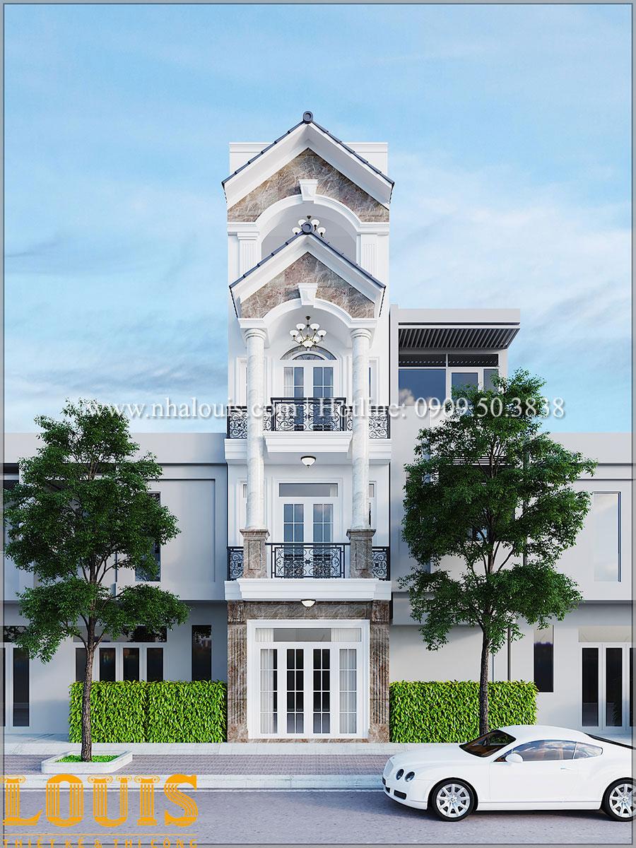 Mặt tiền Mẫu nhà phố tân cổ điển với mặt tiền cực chất tại Bình Tân - 01
