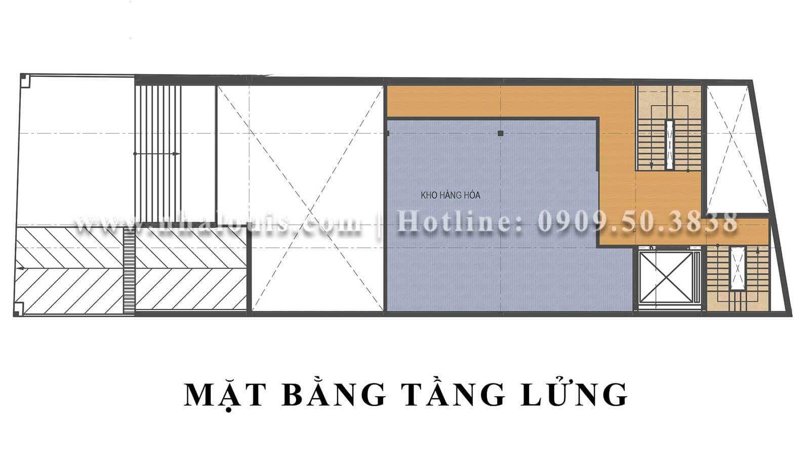 Mặt bằng tầng lửng Mẫu thiết kế phòng gym chuẩn hiện đại tại Quận 9 - 04