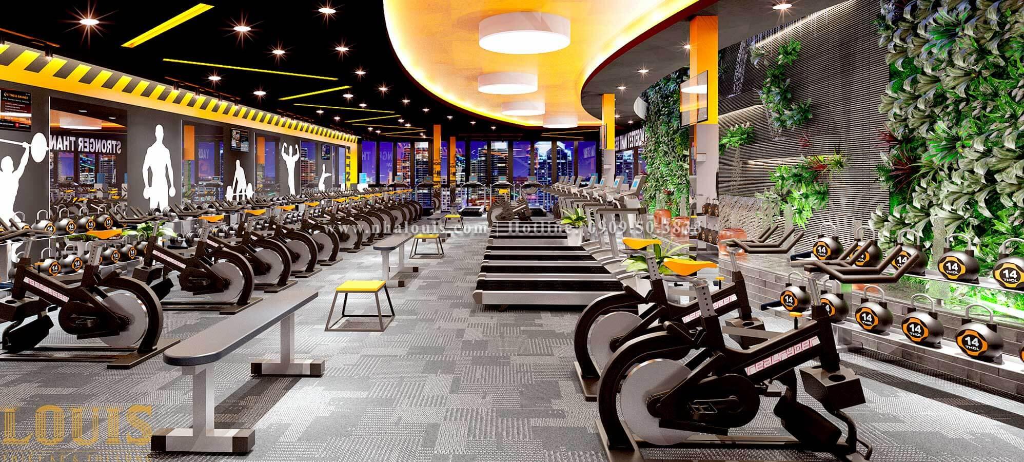 Phòng tập Mẫu thiết kế phòng gym chuẩn hiện đại tại Quận 9 - 06