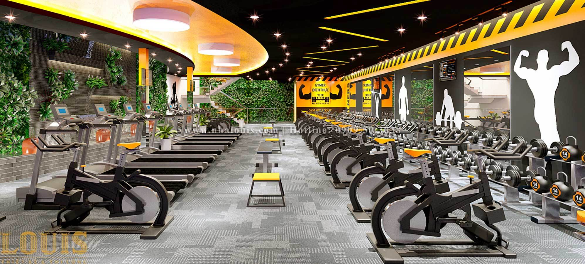 Phòng tập Mẫu thiết kế phòng gym chuẩn hiện đại tại Quận 9 - 08