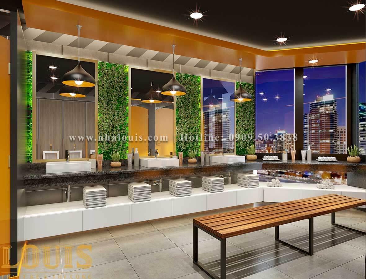 WC + Phòng tắm nam Mẫu thiết kế phòng gym chuẩn hiện đại tại Quận 9 - 10