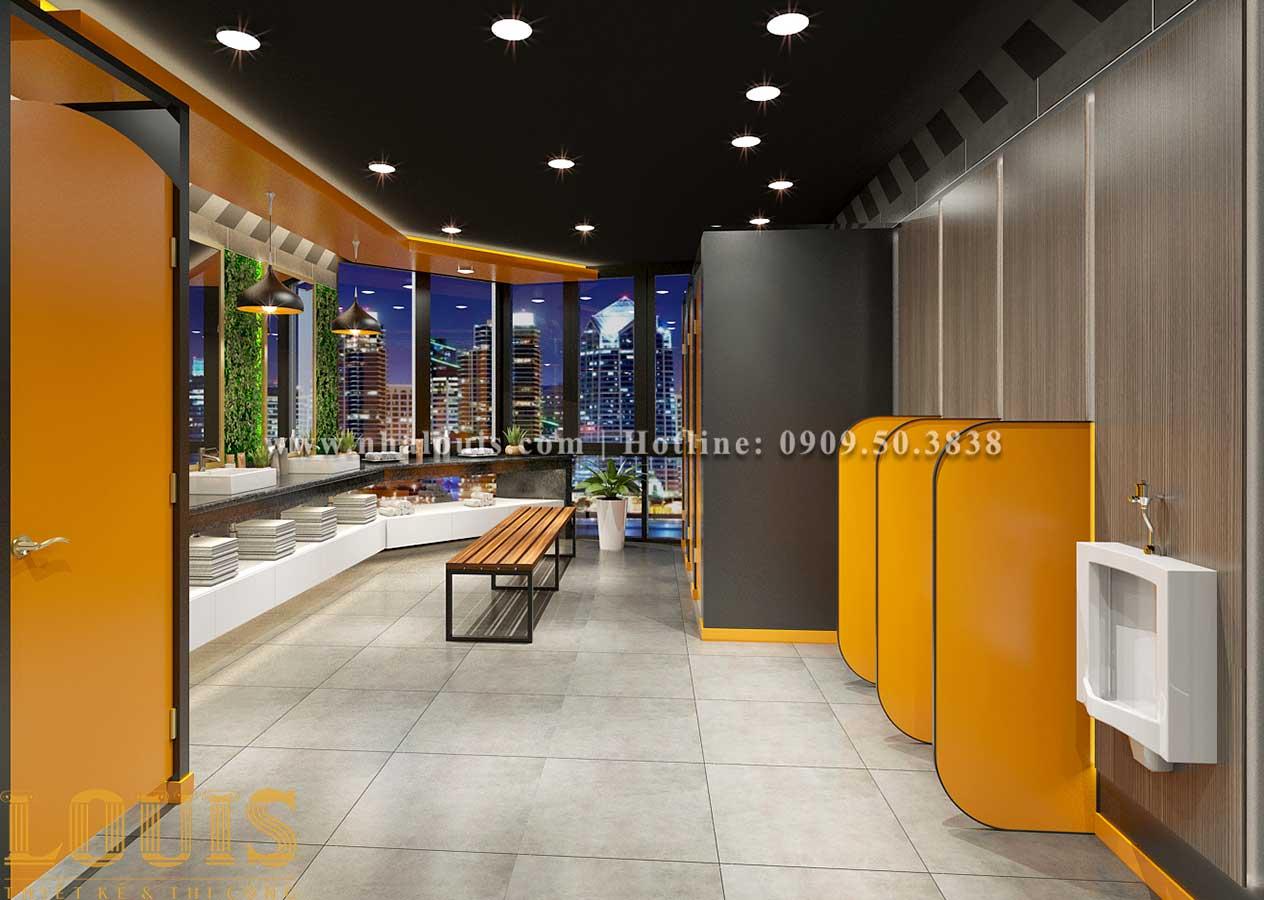 WC + Phòng tắm nam Mẫu thiết kế phòng gym chuẩn hiện đại tại Quận 9 - 12