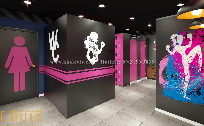 WC + Phòng tắm nữ Mẫu thiết kế phòng gym chuẩn hiện đại tại Quận 9 - 13