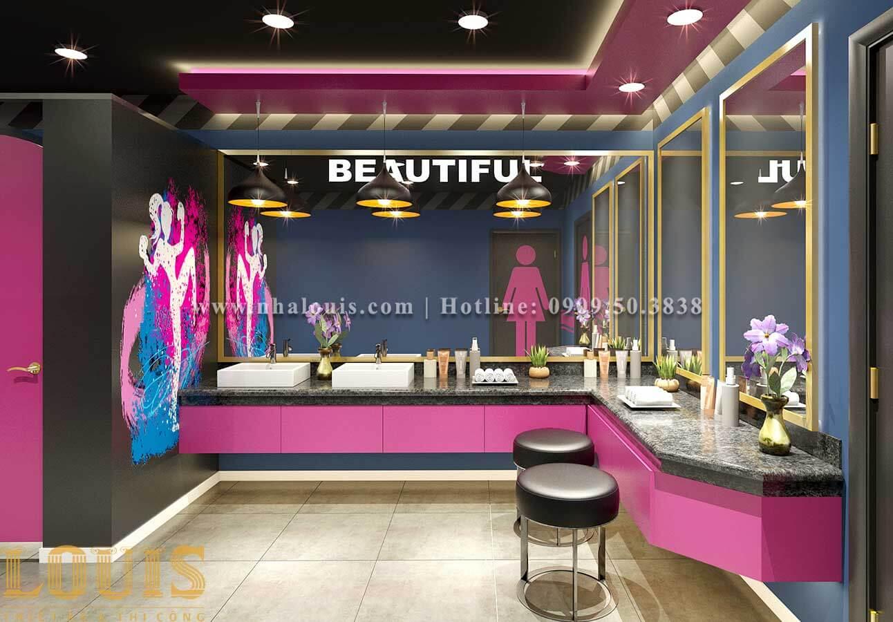 WC + Phòng tắm nữ Mẫu thiết kế phòng gym chuẩn hiện đại tại Quận 9 - 14