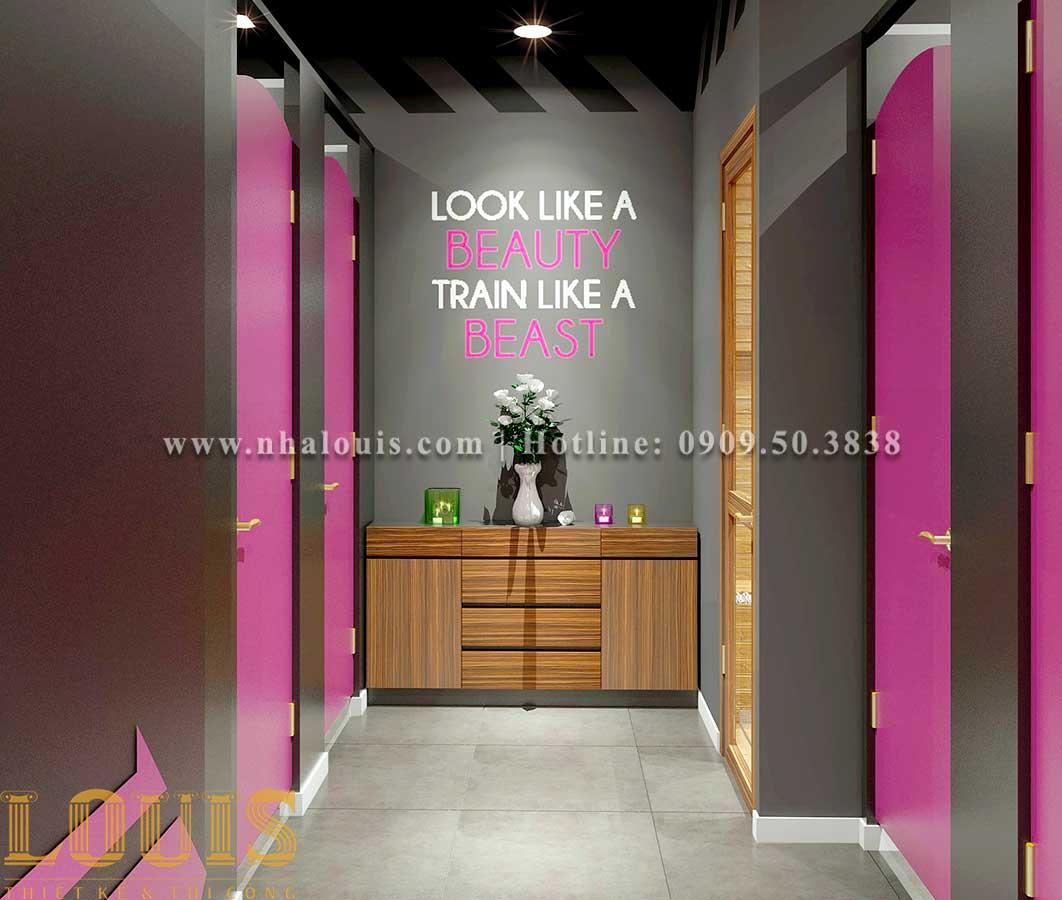 WC + Phòng tắm nữ Mẫu thiết kế phòng gym chuẩn hiện đại tại Quận 9 - 16