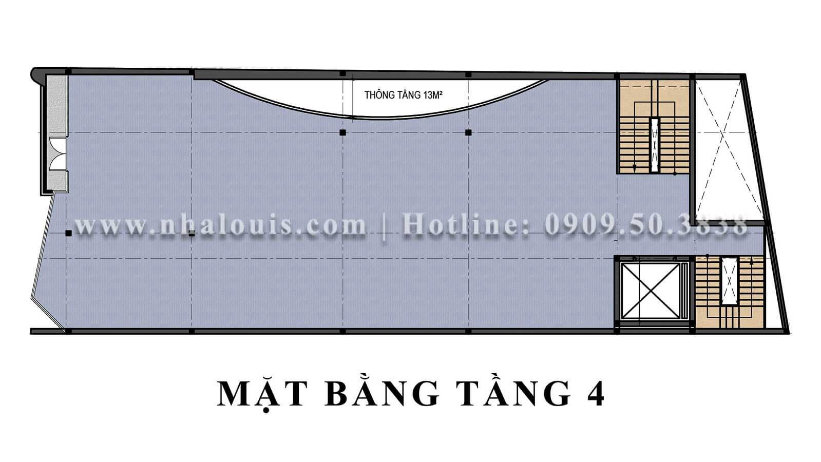 Mặt bằng tầng 4 Mẫu thiết kế phòng gym chuẩn hiện đại tại Quận 9 - 18