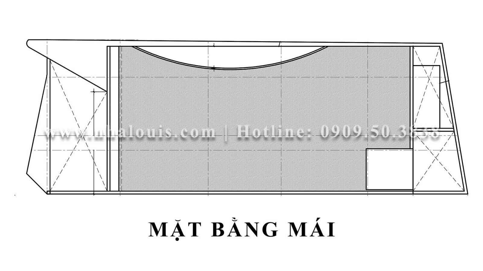 Mặt bằng tầng mái Mẫu thiết kế phòng gym chuẩn hiện đại tại Quận 9 - 20