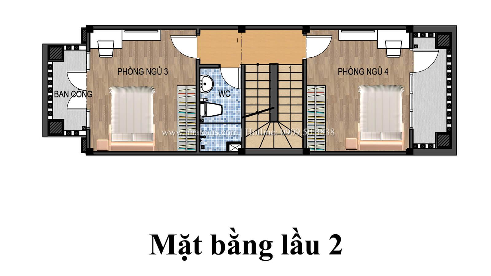 Mặt bằng tầng 2 Nhà 4×15 tại Gò Vấp đẹp kiêu sa với phong cách tân cổ điển - 06