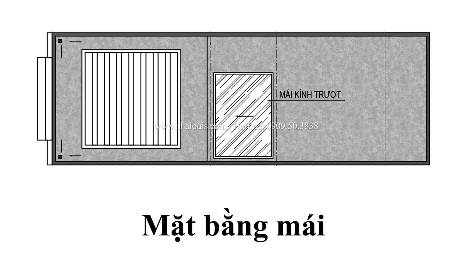 Mặt bằng tầng mái Nhà 4×15 tại Gò Vấp đẹp kiêu sa với phong cách tân cổ điển - 08