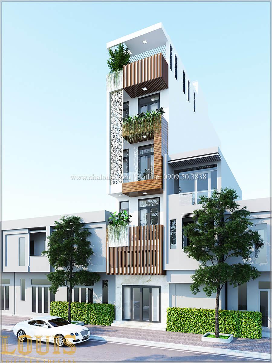 Mặt tiền Thiết kế cải tạo nhà 6 tầng đẹp không ngờ tại Quận 6 - 03